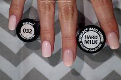 Love Chevron: Porównanie kolorów Semilac Biscuit 032 i Semi Hardi Milk (Hard Milk)