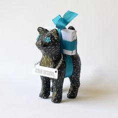 Decoupage kočka