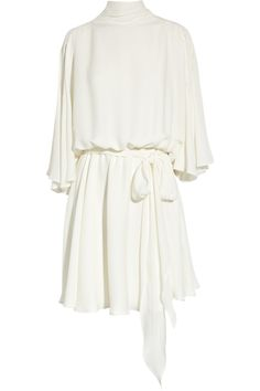 Halston Charmeuse-georgette dress - 70% Off Now at THE OUTNET
