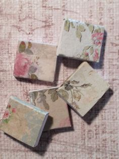 Dollhouse Miniature Floral Journals Scale by miniaturerosegarden, $15.00