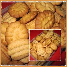 Biscoitos de custarda e laranja
