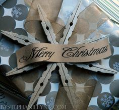 Clothespin Snowflake ornament with great instructions.