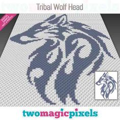 Two Magic Pixels - Beautiful graphs for crochet, cross stitch and other crafts C2c Crochet, Crochet Cross, Crochet For Kids, Happy Birthday Dragon, Baby Piglets, Tribal Wolf, Crochet Disney, Diamond Paint, Kids Blankets