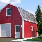 20 X 24 X 10 Gambrel Garage Barn Plans. x Gambrel Barn - Shed. Over 100 Different garage and barn plans all on one DVD. Gambrel Barn, Barn Garage, Barns Sheds, Barn Plans, Building A Shed, Outdoor Structures, Home, Barns, Ad Home