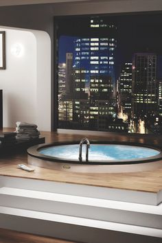 "drugera:  Indoor Hot Tub .. ""Can't Ever get Away From ""CLASS"" and Man, This Sure Is That .. ""What A VIEW"" ..."
