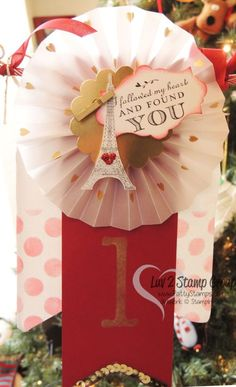 www.PattyStamps.com - L O V E Banner created with new products from the Stampin' Up! 2014 Occasions / Spring catalog! Banner by Gina Cardera.