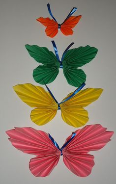 Folded Paper Butterfly Crafts
