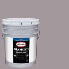 Glidden Diamond 5 gal. #HDGCN58 Warm Grey Flannel Satin Interior Paint with Primer