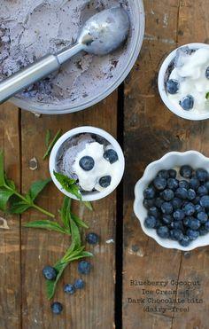 Blueberry Coconut Ice Cream with Dark Chocolate bits - BoulderLocavore #dairyfree #glutenfree