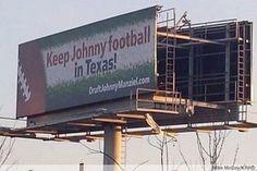 Keep Johnny Football in Texas!