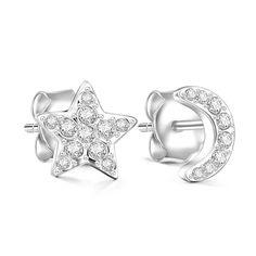 #AdoreWe #Soufeel Jewelry - Designer Soufeel Moon and Star Earrings - AdoreWe.com