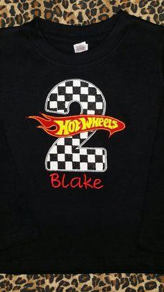 Custom Hot Wheels Birthday Shirt By MaddiebugsBoutique On Etsy