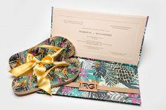 Convite de casamento colorido - Foto Malekaruan