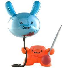 Kidrobot Dunny Series 2010 - Art & Poppy Balloon By Travis Cain