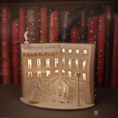 La Petite Fille aux allumettes - Handmade livre Sculpture Par Karine Diot