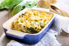 Recept na moc dobré těstoviny zapékané se špenátem a sýrem. Vareni.cz - recepty, tipy a články o vaření.