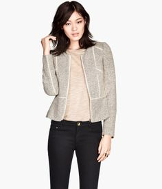 Classic structured jacket, wear it with a t shirt and jeans for an easy office look. H&M