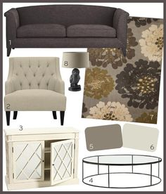 Good Style Design, Living Rooms, 5A Transitional Taupe Living Room