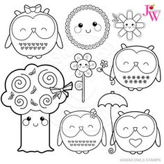 Trendy tree graphic line Ideas Tree Branch Tattoo, Owl Clip Art, Doodles, Clip Art Pictures, Tree Graphic, Trendy Tree, Cute Owl, Digital Stamps, Coloring Pages