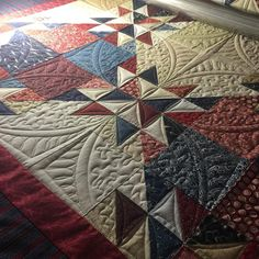 "117 Likes, 9 Comments - Coleen Barnhardt (@quiltedthistle) on Instagram: ""I'm finishing up a Quilt of Valor this morning. #longarmquilting #freemotionquilting…"""