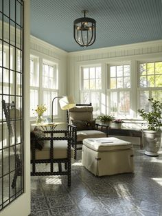 Love these colors.  Could you imagine if you did that as a stencil on the floor instead of tiles?