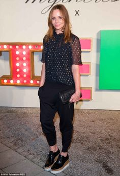 Chic: The vegan fashion designer ensured all the food served was animal friendly on the ni...