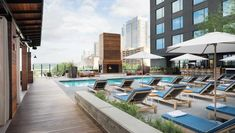 The Kimpton Hotel Van Zandt is the newest of downtown Austin hotels. This boutique hotel embraces the local music and stands out amongst hotels in Austin TX. Above Ground Pool Decks, In Ground Pools, Pool Deck Plans, Hotel Ads, Austin Hotels, Kimpton Hotels, Homewood Suites, Van Zandt, Hotel Pool
