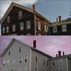 Before & After Photos! Mastic Carvedwood 44 Vinyl Siding in Victorian Grey, Fall River, MA | Care Free Homes, Inc.