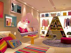 Um quarto delicado com criatividade #Criativo