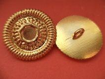 8 METALLKNÖPFE gold 23mm (4887-5) Knöpfe Metall