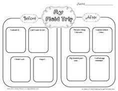Field trip before and after worksheet