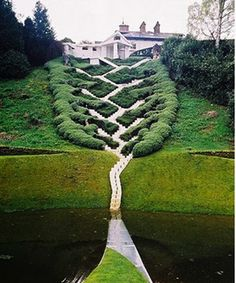 The Garden of Cosmic Speculation, Scotland  Created by Charles Jencks and Maggie Keswick
