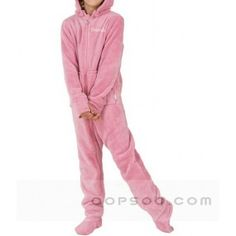 d9e211a8db2 Custom Logo Embroidered Cute Hooded Pink Cotton Pajamas - AP1501093309  Adult Pajamas, Onesie Pajamas,