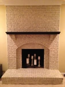 Paint For Inside Of Fireplace Painting Brick Fireplace Before And After  Fireplace Decorating .