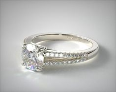 Love the setting on this James Allen engagement ring