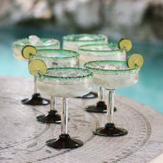 NOVICA Green Handblown Glass Margarita Drink Ware Set of 6 ($60) ❤ liked on Polyvore featuring home, kitchen & dining, drinkware, food, my hom, cocktail, green, homedecor, tableware & entertaining and novica