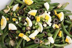 String Bean Salad #vegetarian #eggs #vinaigrette #oliveoil