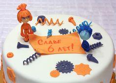 Торт Фиксики с фигурками из мастики