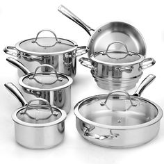 Cooks Standard 00391 11-Piece Classic Stainless-Steel Cookware Set *** Check out this great product.