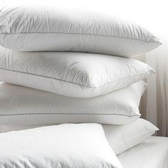 A pile of wonderful white pillows.
