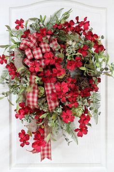 PrimitiveCountry Red Wreath