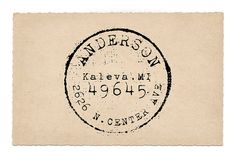 Custom Address Stamp, Round Return Address Stamp, Antique Postage, Wedding Rubber Stamp, Pre-inked, Kaleva