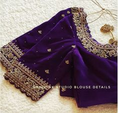 Blouse Designs High Neck, Cutwork Blouse Designs, Hand Work Blouse Design, Simple Blouse Designs, Stylish Blouse Design, Saree Blouse Designs, Designer Blouse Patterns, Zardozi Embroidery, Hand Embroidery