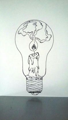 """What if there was a tiny lighthouse inside of every light bulb?What if there was a tiny lighthouse inside of every light bulb? lightbulb drawing lighthouseAffiche Illustration Noir et blanc ampoule """"tenir une Drawing Sketches, Cool Drawings, Art Sketches, Drawing Tips, Sketching, Pretty Drawings, Drawing Poses, Inspiration Art, Art Inspo"""
