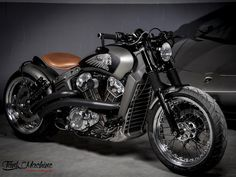 indian motorcycle Indian Scout By Tank Machine Hell Kustom Indian Bobber, Indian Motorbike, Vintage Indian Motorcycles, Custom Choppers, Custom Motorcycles, Custom Bikes, Triumph Motorcycles, Motorcycle Types, Bobber Motorcycle
