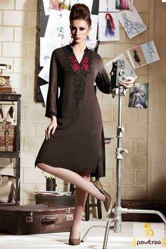 Bring the best good-looks with you by attiring this awesome black western stylish kurti with rich look. It is tempting with brown and pink embroidery .  http://www.pavitraa.in/store/kurtis/ #kurtis, #stylishkurtis, #partykurtis, #designerkurtis, #fancykurtis, #embroiderykurtis, #2015kurtis, #newkurtis, #shortkurtis, #longkurtis, #onlinekurtis,  #cotttonkurtis, #wholesalekurtis, #offer, #Festival