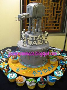 Star Wars cake with AT AT