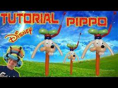 PALLONCINI MODELLABILI tutorial 37 PIPPO (personaggio Disney) - YouTube