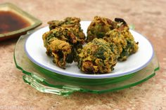 Spinach Pakoras - #vegan and #glutenfree, can be a snack or side dish, or even a meal!