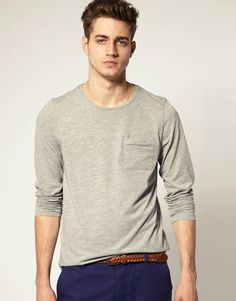 Love the ASOS Crew Long Sleeve T-Shirt With Pocket on Wantering | $13 | sale price | Boxing Week for Him | mens long sleeve t-shirt | mens tee | menswear | mens style | mens fashion | wantering http://www.wantering.com/mens-clothing-item/asos-crew-long-sleeve-t-shirt-with-pocket/aaz6N/